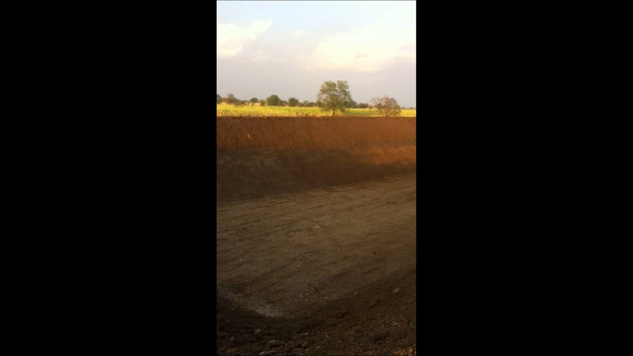 Vishwas farms shettale farm pond youtube for Design of farm pond ppt