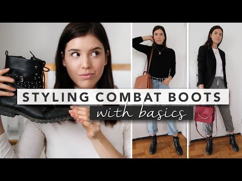 How To Style Combat Boots: 5 Outfits With Wardrobe Basics   By Erin Elizabeth