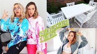 new outdoor patio furniture + diy tie dye hoodies!!