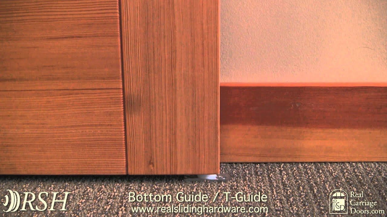 Barn Door Hardware Bottom Guide T Guide Youtube