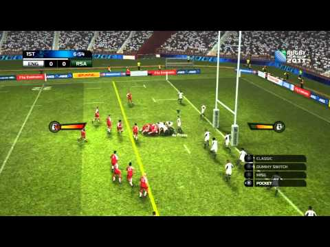 Rugby World Cup 2011 Game Demo Review (HD) England Vs South Africa