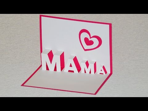 Muttertagsgeschenke Basteln Pop Up Cards Zum Muttertag Selber