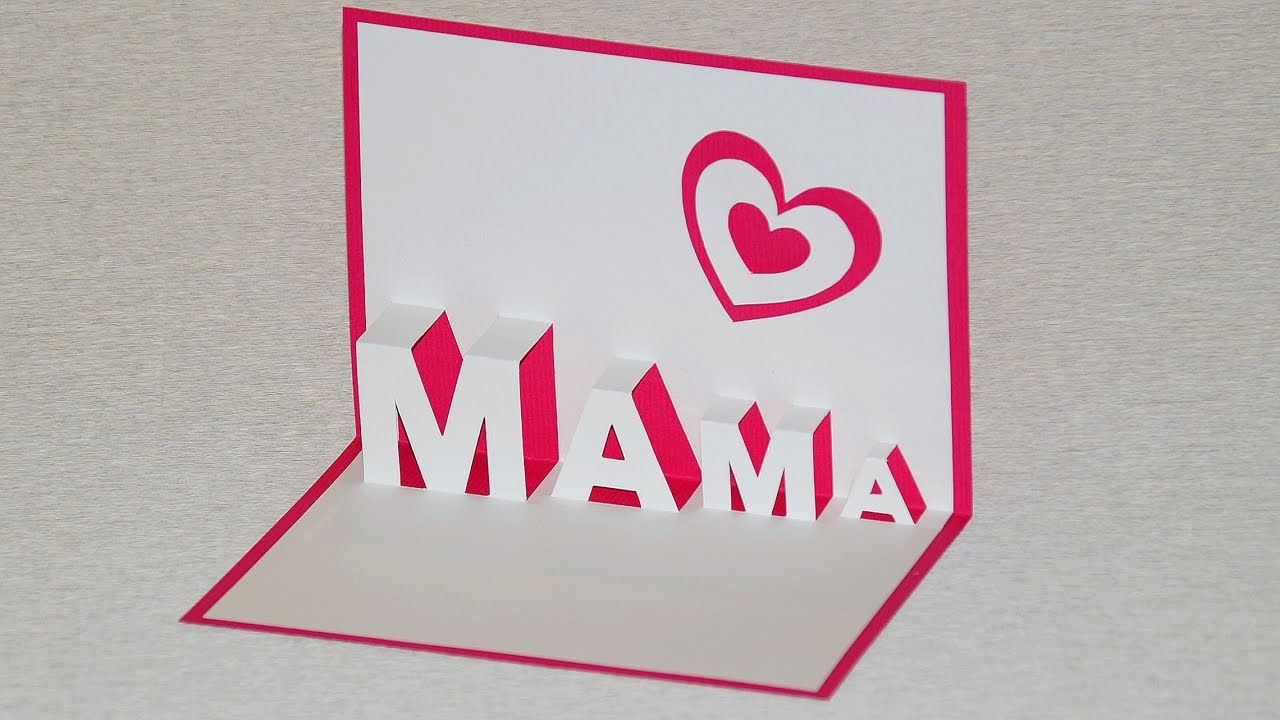Schnelle Muttertagsgeschenke Selber Machen Pop Up Card For Mother S Day Diy