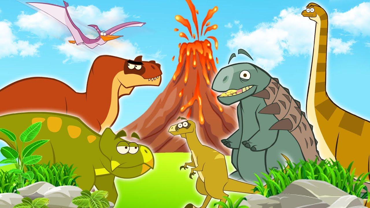 Dinosaur Cartoons For Children | Funny Dinosaur Stories For Kids | Learn Dinosaurs | Educational