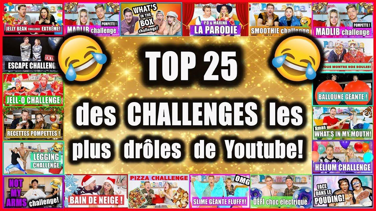 Top 25 Des Challenges Les Plus Droles De Youtube Bonne Fete Marina P O Et Marina Youtube