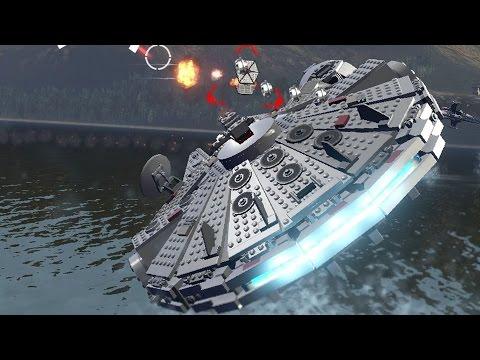 LEGO Star Wars: The Force Awakens - All Playable Big-Ships Vehicles Unlocked | Free Roam Gameplay
