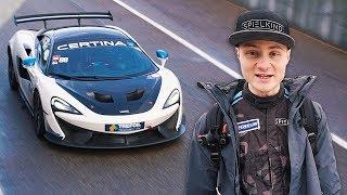 Ich fahre zum ersten Mal meinen Rennwagen (McLaren 570s GT4)
