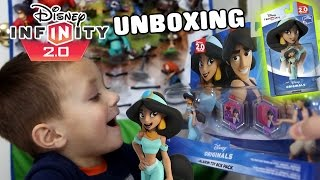 Disney Infinity 2.0 Jasmine! She's Here!  Chase Is Unboxing The Originals Toy Box Pack W/ Aladdin!