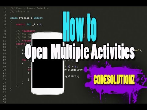 Open Multiple Activities from Multiple Buttons (The Easy way)
