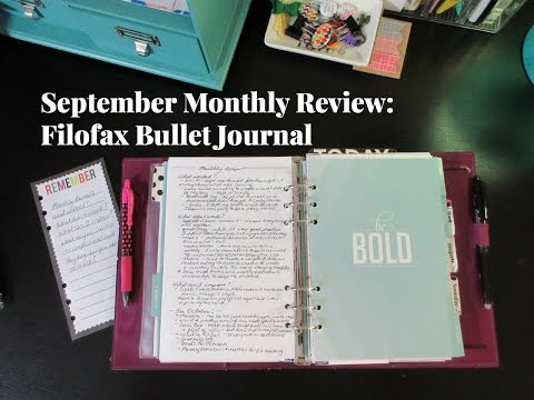 September Monthly Review: Filofax Bullet Journal