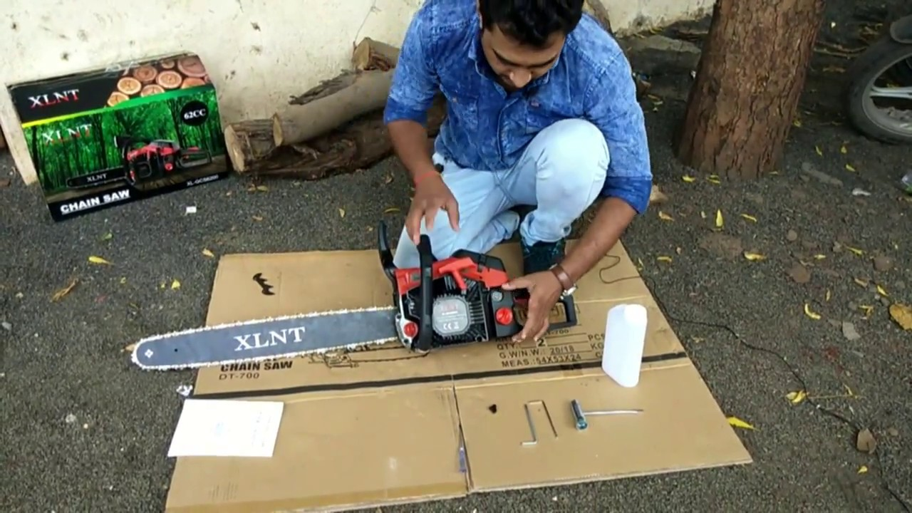 How to assemble chainsaw Unboxing and assembling of 22