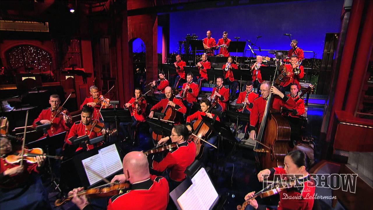 Marine chamber orchestra on late show with david letterman for Chambre orchestra