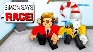SIMON SAYS: MAKING PEOPLE RACE!! *FUNNY* (Roblox Murder Mystery X)