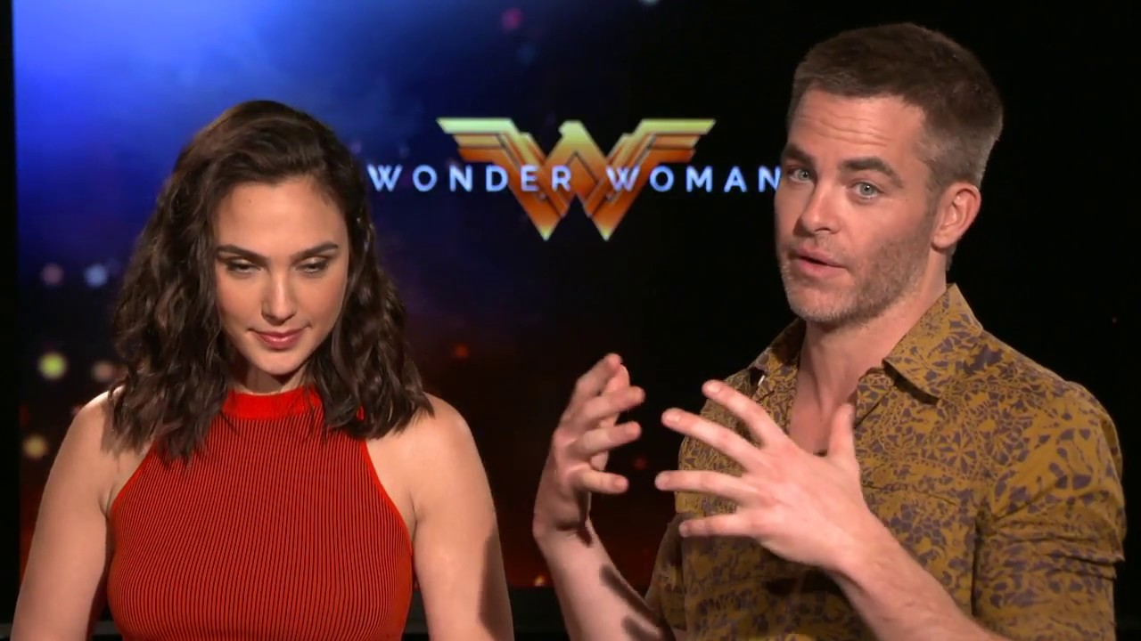 Wonder Woman Interview Gal Gadot Amp Chris Pine Youtube
