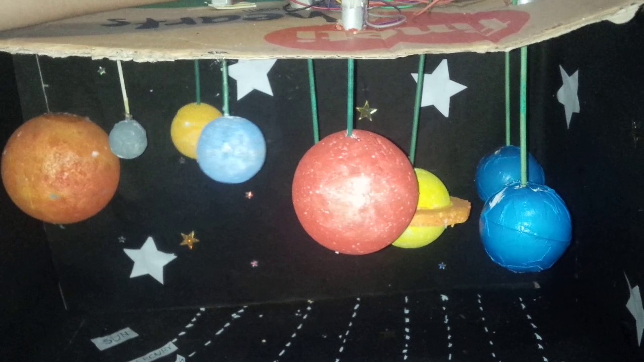 Solar System Working Model For Kids Youtube