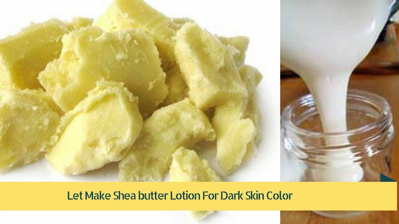 Shea butter darkens skin