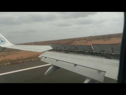 Landing at Sal, Cape Verde, 17 March 2017 Boeing 737 800