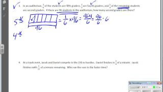 March 04   Module 4   Lesson 12   Solving Fraction Word Problems   Continued