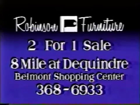1987 Detroit: Robinson Furniture Commercial