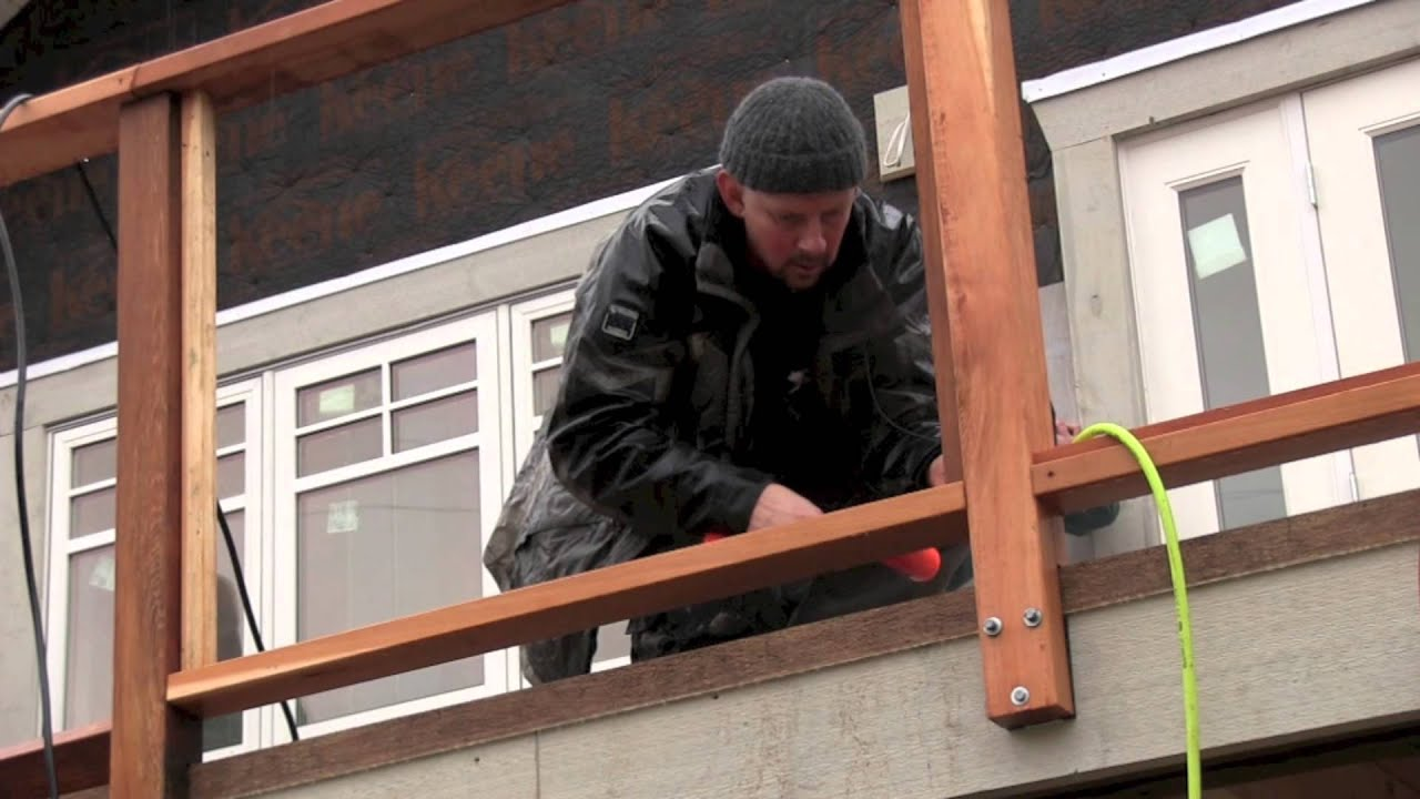 New Deck Construction Cedar Railings Youtube