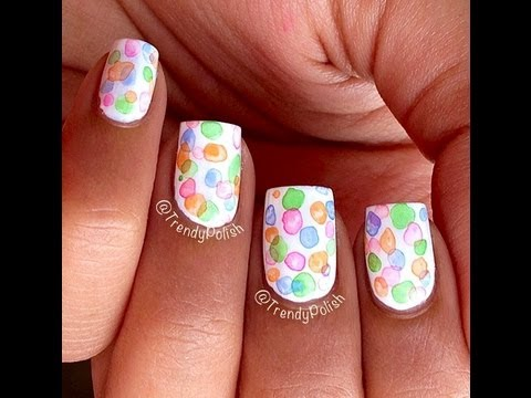 How To Bubble Nail Art Tutorial