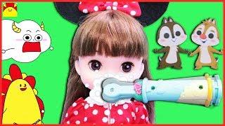 ディズニー レミン&ソラン★チップとデールのおしゃべりはみがき♪お人形になりきりごっこ遊び★お世話ごっこ 寸劇 Disney Remin & Solan doll toys for kids