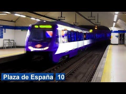Plaza de España L10 : Metro de Madrid ( Serie 7000 )