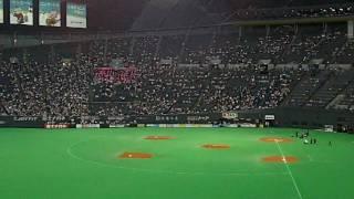2010年5月21日に札幌ドームで開催された交流戦、日本ハムvs横浜の試合前...