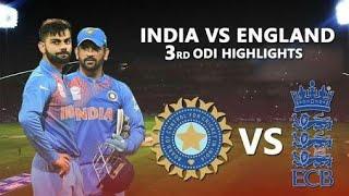 India vs England 3rd odi highlights