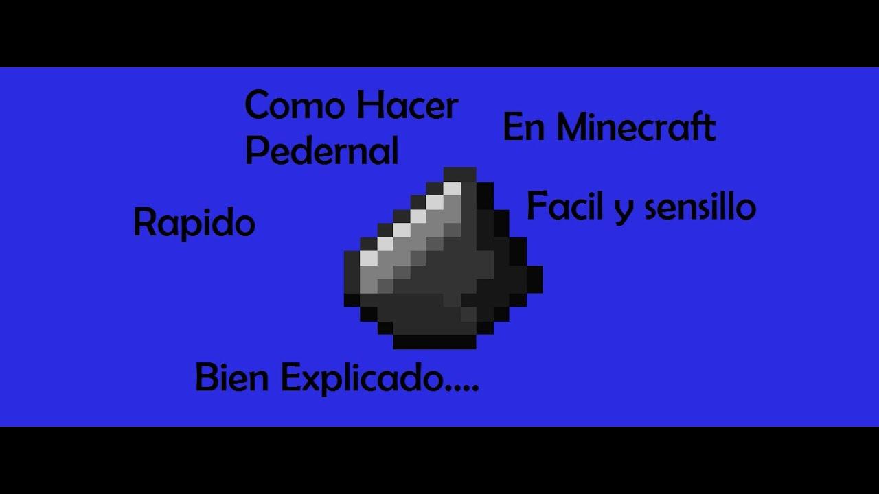 Minecraft como conseguir pedernal youtube for Como hacer muebles en minecraft