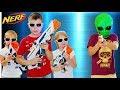 РОДИТЕЛЕЙ ЗАХВАТИЛИ ПРИШЕЛЬЦЫ Нерф Битва с Лазер Опс Про NERF GAME Lazer Ops Pro