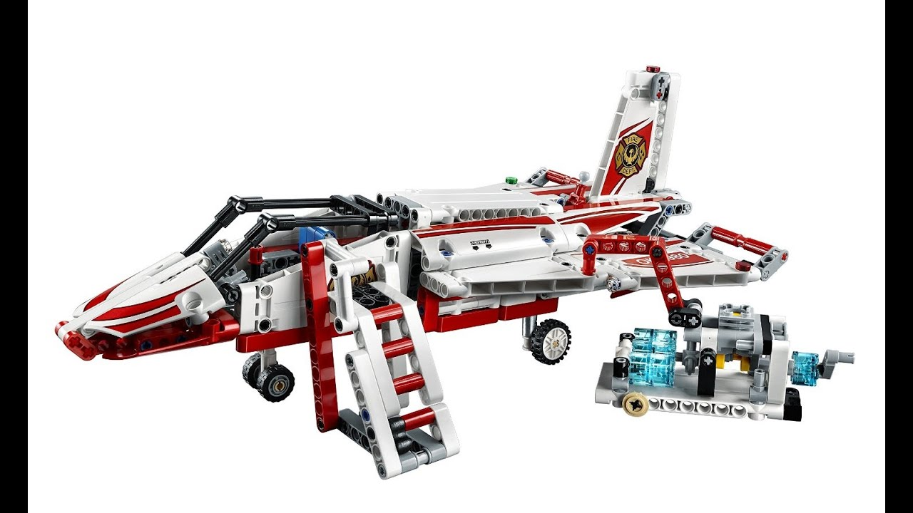 lego technic 42040 jet plane review functions demo youtube. Black Bedroom Furniture Sets. Home Design Ideas