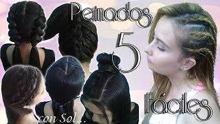 5 Peinados Fáciles y Rápidos - 5 Easy and Fast Hairstyles