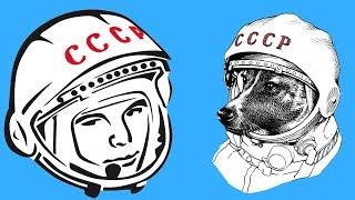 🚀 Первые люди в космосе! Юрий Гагарин и Алан Шепард!
