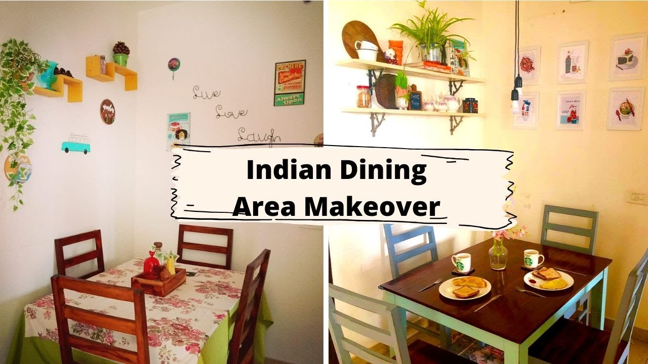 Indian Dining Area Makeover Under 4000 | Budget Makeover 2020 | Rental Home Decor