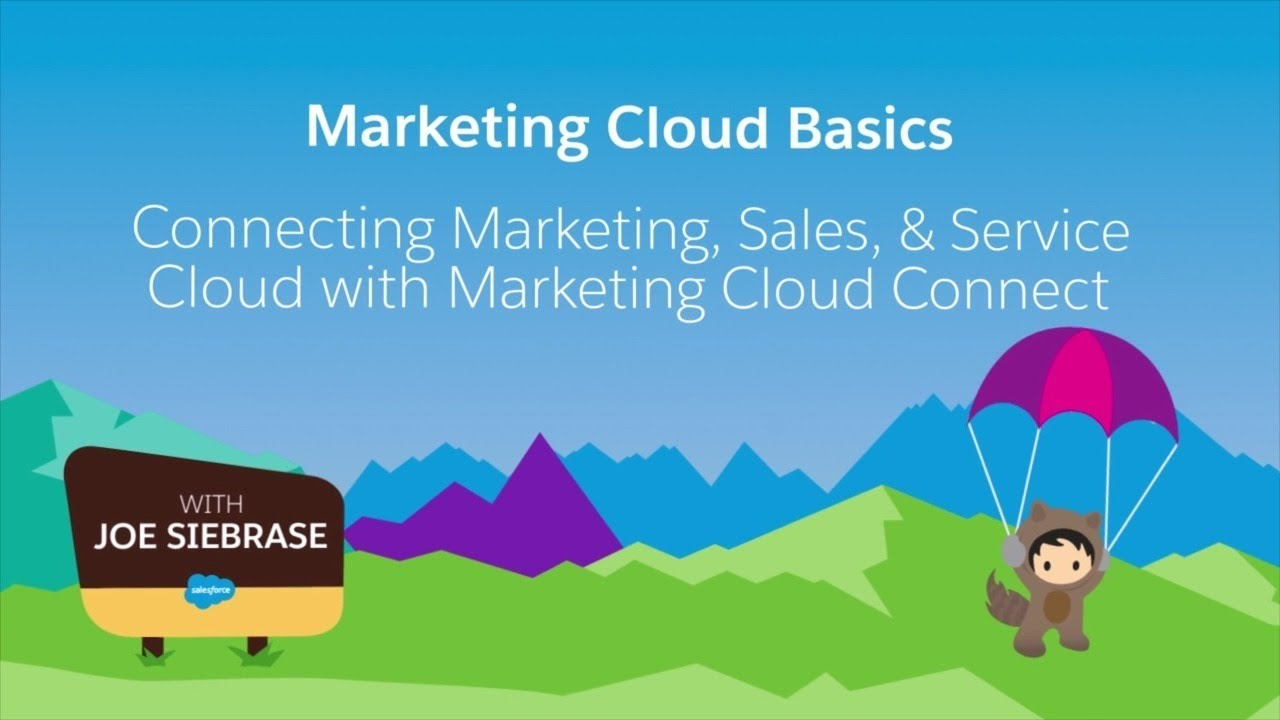 Marketing Cloud Connect Part 1 Email Youtube