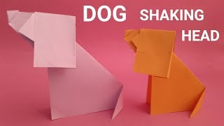 How to make an origami dog - paper dog with shaking head - easy origami