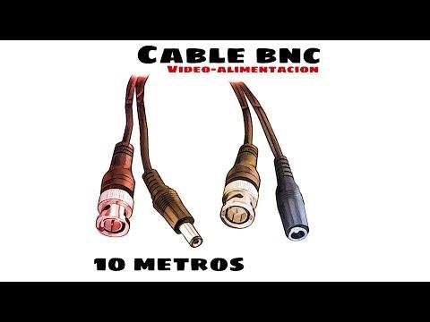 Video de Cable RG59 Combinado Coaxial y Alimentacion BNC 10 M Negro