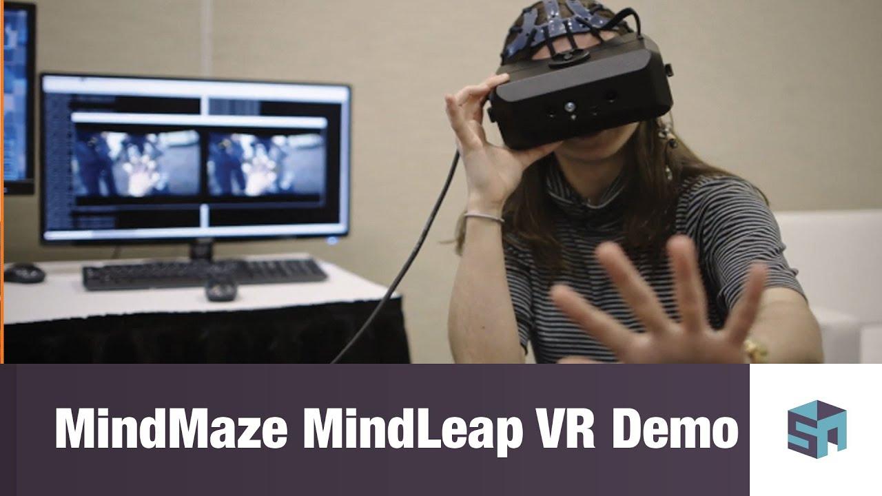 baecbbe095aa MindMaze MindLeap VR Demo - YouTube