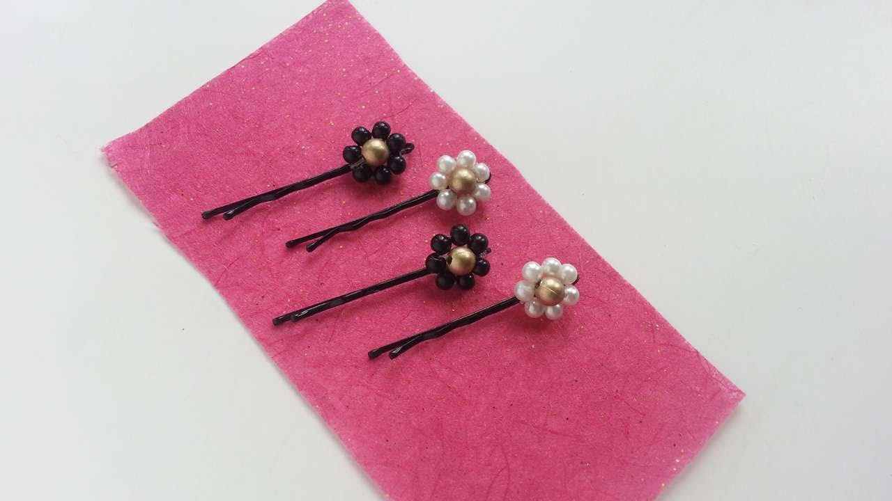 How To Create Beaded Flower Bobby Pins Diy Crafts Tutorial Guidecentral