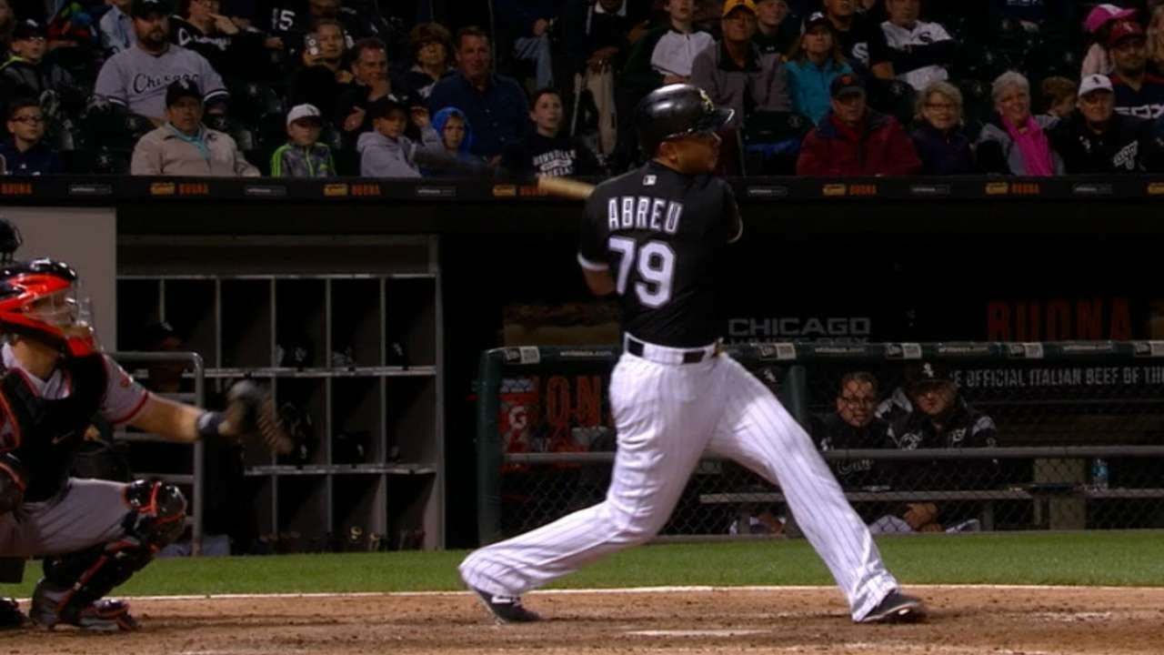 3ffb5829a SF CWS  Abreu hits for the cycle against the Giants - YouTube