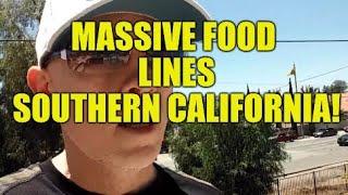 ECONOMIC WRECKAGE USA, MASSIVE FOOD LINES IN S. CALIFORNIA, JOB GAINS DECEPTION, HOMELESSNESS RISING