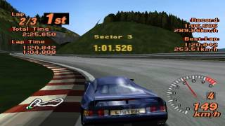 Gran Turismo 2 - Mid-Field Raceway - Lister Storm V12 - ePSXe 1.8.0