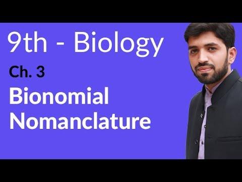 Bionomial Nomanclature Biology - Biology Chapter 3 Biodiversity - 9th Class