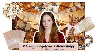 Co warto kupić na aliexpress na ślub i wesele? | Dekoracje i biżuteria z alie | Rustykalne wesele