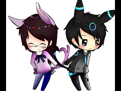 SPEEDPAINT UMBREON AND ESPEON [Human Chibi Version] - YouTube