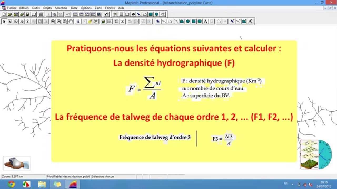Comment calculer le nombre de cours d 39 eau pour calculer la fr quence de t - Comment calculer quantite de peinture ...