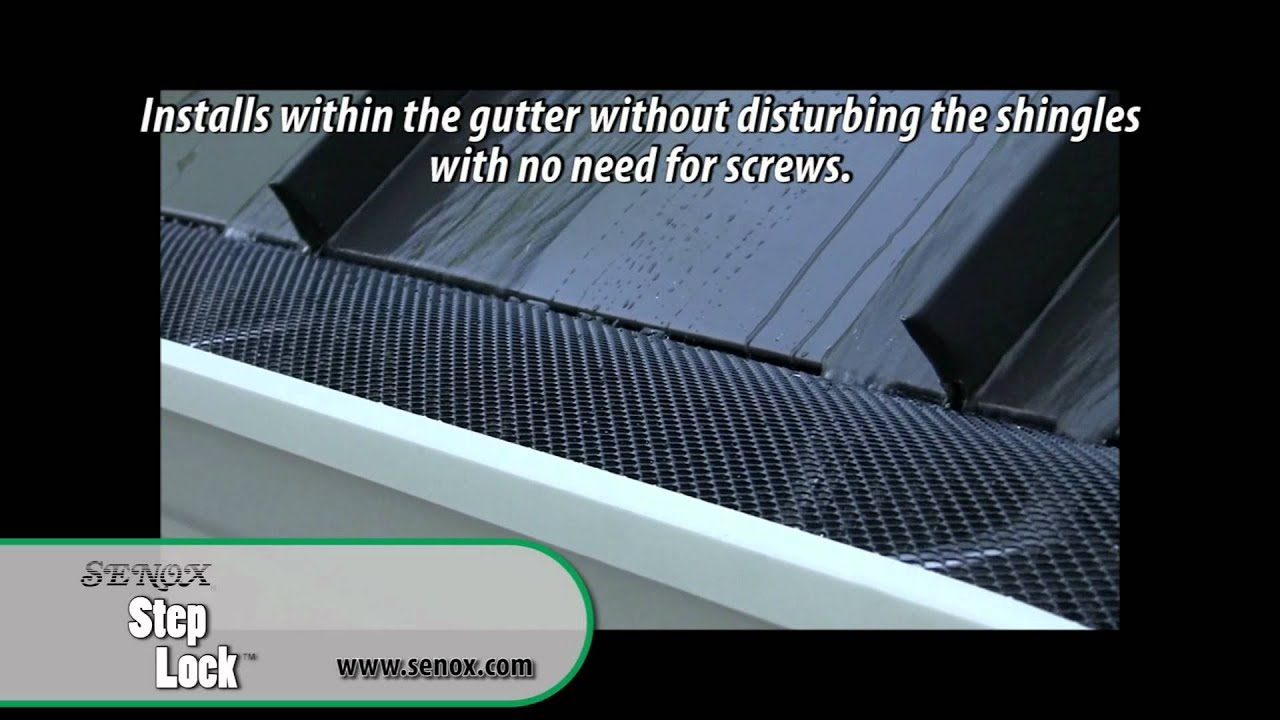 Senox Step Lock Gutter Guard Youtube