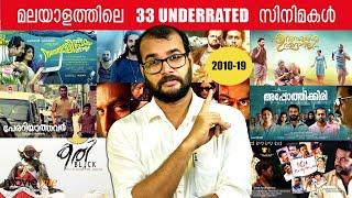 33 UNDERRATED Malayalam Movies 2010-19   ഇതില് ഏതൊക്കെ സിനിമകൾ നിങ്ങൾ കണ്ടിട്ടുണ്ട്? #MonsoonMedia