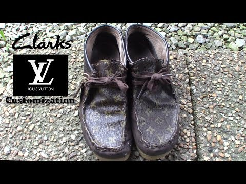Louis Vuiiton x Clarks Wallabee Shoe Customization